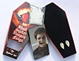 Horror Vampire Bite Fangs & Dracula Ghost Devil Teeth Match with Contact Lenses Halloween Props Custume Party [並行輸入品]