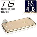 iPhone6s Plus ケース T6 メタルバンパー 高品質アルミ製 カメラレンズガード・ストラップホール付 (iPhone6s Plus, ゴールド)
