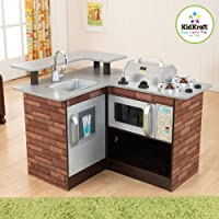 KidKraft Chillin ' & Grillin '木製キッチンワークとグリル53311ブランド新しい