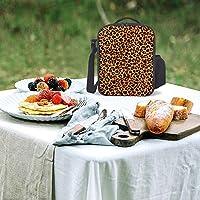 セクシーな豹柄 レオパード ヒョウ柄 ヒョウの紋です ランチバッグ昼食の包み断熱コールドピクディナーバッグショッピングバッグショルダーバッグ 大容量 男女兼用 通学旅行 オフィスピクニック