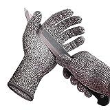 突き刺し防止とカット防止グレード5 HPPEカット防止手袋屠殺用保護手袋カイトフィッシンググローブ突き刺し防止ガーデン(5ペア),XS