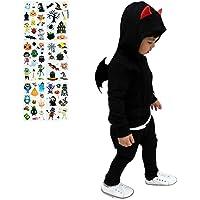 Toyhigend ハロウィン コスプレ 子供 悪魔 ハロウィン 仮装 コスチューム かわいい 男の子 女の子 8点セッ…