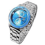Disney ディズニー ミッキー 生誕80周年記念 回転 ベゼル 腕時計 ブルー スワロフスキー