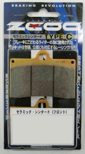 ZCOO ( ジクー ) バイク用 ブレーキパッド セラミックシンタード タイプC スズキ GSX-R600 (04-10)TOKICO ラジアルマウント 4pot スズキ GSX-R 1000 (04-11)TOKICO ラジアル 4pot等 ZRM-T004C