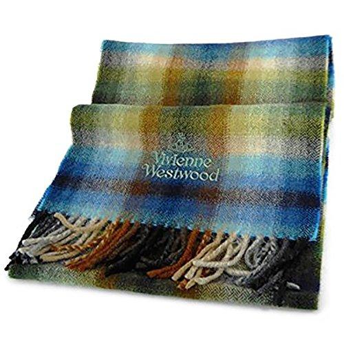 (ヴィヴィアンウエストウッド)Vivienne Westwood Check Muffler チェック マフラー Blue [並行輸入品]