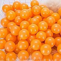 momowu 2.75インチ フタル酸フリー 楽しい 耐クラッシュボール ソフトPEエア充填 オーシャンボール プレイボール ピットボール ベビー キッズ トンネル/テント/プール/スイムジャンプハウス オレンジ 100個