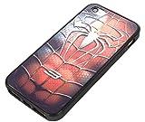 スパイダー iPhone5/5s ハードケース(小さめスパイダー レッド) ( 充電ケーブル 保護膜 セット)