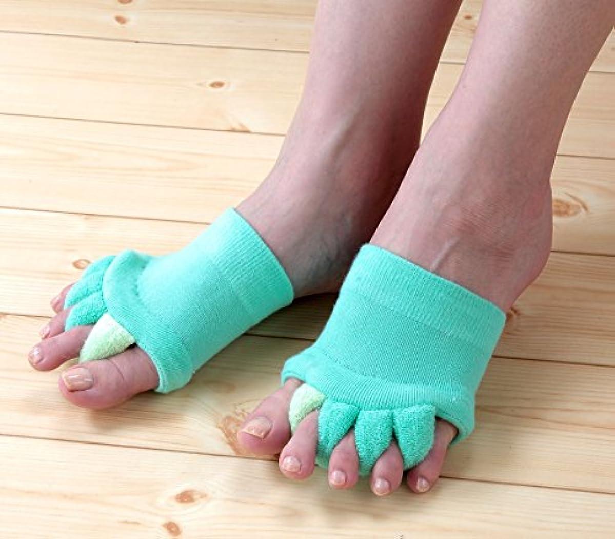憂鬱な美徳朝の体操をするNEWふわふわ足指セパレータ 3色組