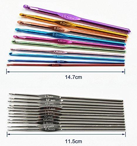 手芸 裁縫セットDIY クラフト カラー カギ針 編み 棒針 レース針 編む針セーター マフラー帽子かぎ針編みフックキット セットケース付