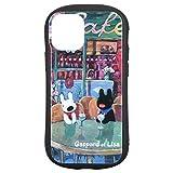 グルマンディーズ リサとガスパール iPhone12 mini(5.4インチ)対応 ハイブリッドガラスケース カフェ COS-117B