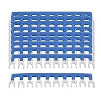 uxcell PCB ターミナルブロックストリップ バリア ブルー TBC-20A ピッチ6mm 10P 10個入り