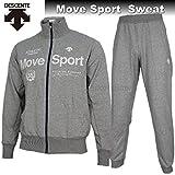 DESCENTE デサント ジャージ Move Sport スウェット ジャケット パンツ 上下 DAT2653 DAT2652P GRM グレー杢 (M)