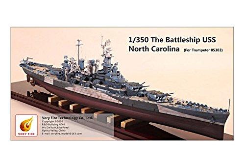 ベリーファイア 1/350 アメリカ海軍 戦艦ノースカロライナ/BB-55用ディテールセット トランペッター05303用 プラモデル用パーツ VFM350002