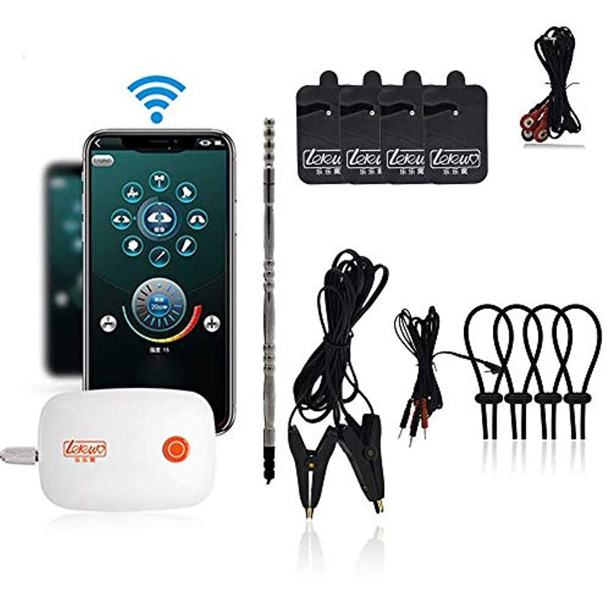 弁護人想起少し刺激的な愛の高級感電キット、刺激クラスBDSM電気刺激拷問マッサージ大人のおもちゃ、Android/iOSバージョン用のアプリケーション