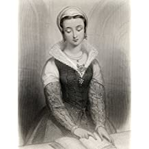 Lady Jane Grey, Aka Lady Jane Dudley, 1537-1554. Titular Queen Of England For Nine Days In 1553. Executed By Mary Tudor.Engraved By H. Robinson After G Staal. From The Book World Noted Women By Mary Cowden Clarke, Published 1858. Poster Print (24 x 32)