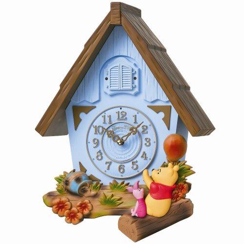 セイコー クロック 掛け時計 くまのプーさん プーさんの家の時計 アナログ 数取り Disney Time ディズニータイム 特殊樹脂枠 FW573L SEIKO