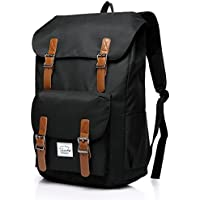 Vaschy Casual Vintage Water-Resistant Hiking Camping Daypack Travel School Backpack