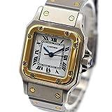 [カルティエ]Cartier サントス ガルベSM Ref. W20057C4 オートマチック/自動巻き ホワイト/白文字盤 レディース 中古