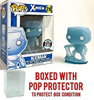 Funko Pop Marvel: X-Men Ice Man Specialty Series Iceman Vinyl Figure (Bundled with Pop BOX PROTECTOR CASE)
