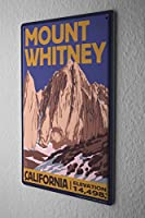 Tin Sign Holiday Travel Agency Mount Whitney