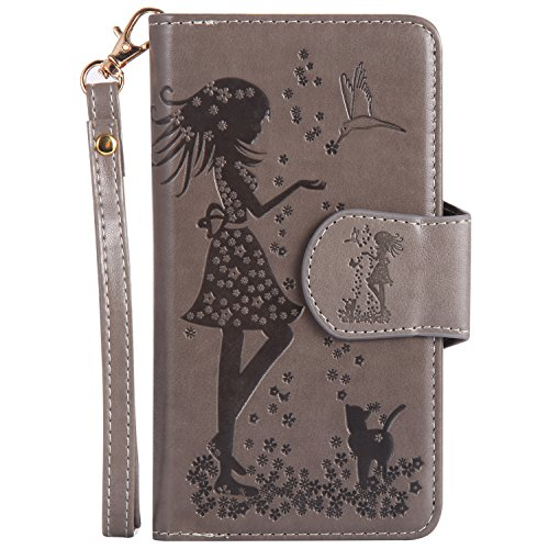 iPhone 6S ケース 対応 本革 レザー手帳型スマホケース カバー 財布型 機能 耐摩擦 耐汚れ カードポケット 全面保護 人気