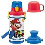 2WAY対応 保冷水筒 400ml スーパーマリオ 3Dランド