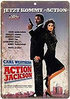 Carl Weathers Action Jackson ティンサイン ポスター ン サイン プレート ブリキ看板 ホーム バーために
