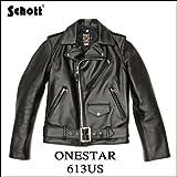 Schott ダブルライダース ワンスター 613US(ブラック/40)