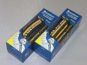 【国内正規代理店品】 Michelin【ミシュラン】 Pro4 Endurance V2【プロ4 エンデュランス V2】 ロード用クリンチャータイヤ 2本セット (イエロー, 700×23)