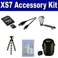 Polaroid XS7 Camcorder Accessory Kit includes: N66520 Memory Card SDC-21 Case USB5PIN USB Cable ZELCKSG Care Cleaning ZE-VLK18 On-Camera Lighting GP-22 Tripod
