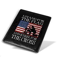 ブックカバー9x11 In I Stand For The Flag And Kneel For The Cross ブックカバー 文庫 コンサイス 皮革調 手作り手帳 日記帳 システム手帳 アンティーク ブックカバー 詰め替えレザートラベルジャーナル執筆日記 卒業記念品