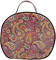 Dilly's Collections Large Round Multi-Purpose Toiletries Travel Makeup Cosmetic Bag - Retro
