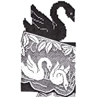 Filet Crochet Swans Swan Chair Back Set or Doilies Pattern (English Edition)