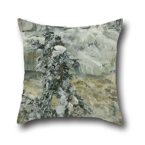 The Oil Painting Akseli Gallen-Kallela - Imatra In Wintertime Throw Pillow Covers Of ,16 X 16 Inches / 40 By 40 Cm Decoration,gift For Girls,office,gril Friend,indoor,car Seat,club (each Side)