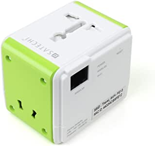 Satechi サテチ USBポート付きスマートトラベル Wi-Fi ルーター (iOS, Android, Windows, Blackberry, MP3 デバイスなどの充電用)アメリカ、カナダ、メキシコ、欧州連合(EU)、オーストラリア、ニュージーランド、香港、中国対応 (ルーター付き) ST-STAW
