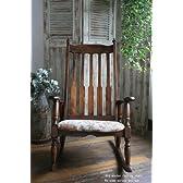 re378 古い木製のロッキングチェア・揺り椅子