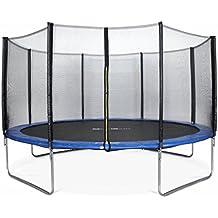 ALICE'S GARDEN - Garden Trampoline - Venus 14ft Trampoline with Safety net - Blue - PRO Quality   EU Standards