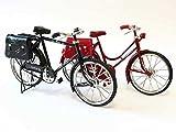 1/6 スケール レトロなリアル自転車模型 アンティーク 風 自転車 ドール 撮影 バービー リカちゃん ドルフィー 黒