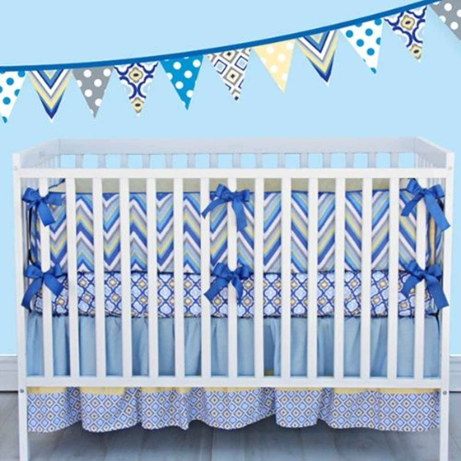 Caden Lane Ikat Collection Asher Crib Bedding Set by Caden Lane