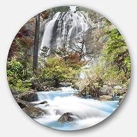 DesignArt mt7121-c11 Klonglan Waterfall写真壁アート、11 x 11、ブルー