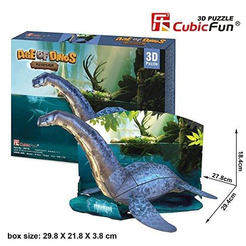 Cubic Fun恐竜3dパズル – 首長竜の時代、p671h-38pcs