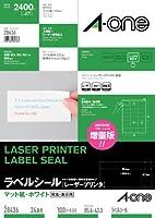(まとめ買い) エーワン レーザープリンタラベル24面100入 28436 【×3】