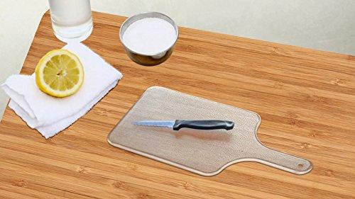 2つの1つコンボ。耐久性プラスチックカッティングナイフセット、キッチンカッティングとChopping Board withフリーペアリングナイフ