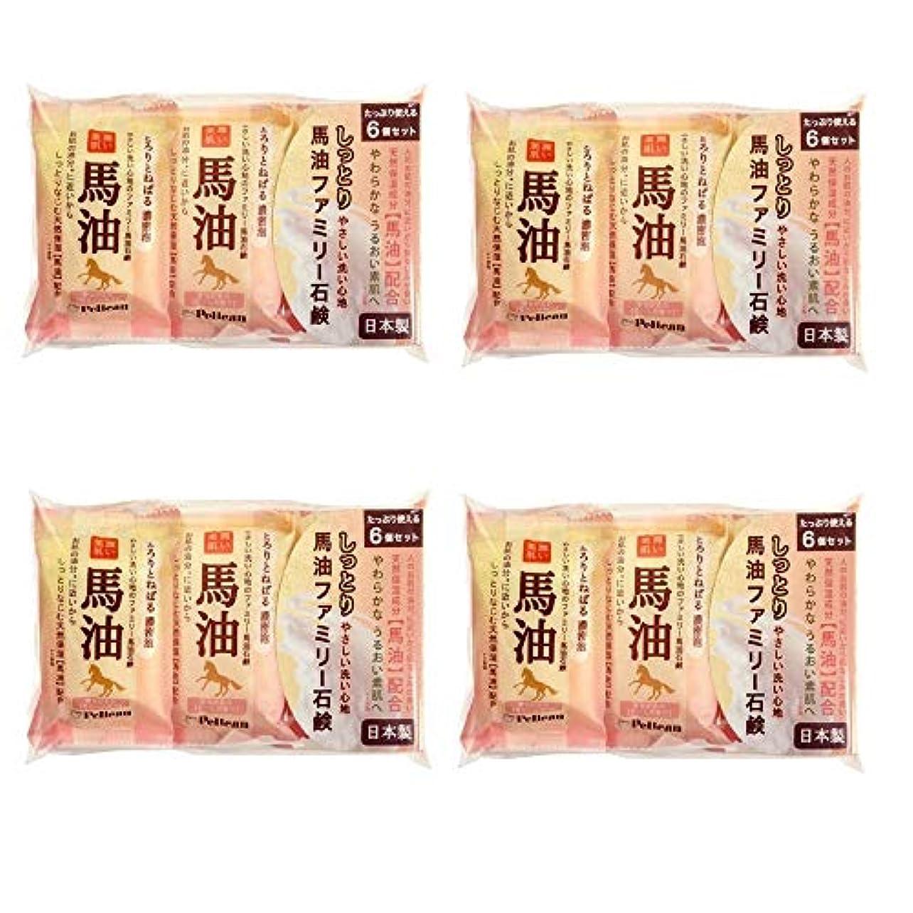 同様に対準備した【まとめ買い】ペリカン石鹸 ファミリー馬油石けん 80g×6個【×4個】