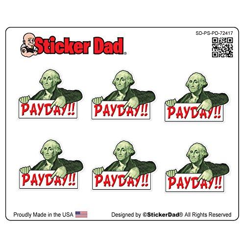 Pay Day Money Day Plannerステッカーby stickerdad ( 6)フルカラー印刷のシート–(シートサイズ: 5x 4インチ)–Forプランナ、予定表、スクラップブック、etc。