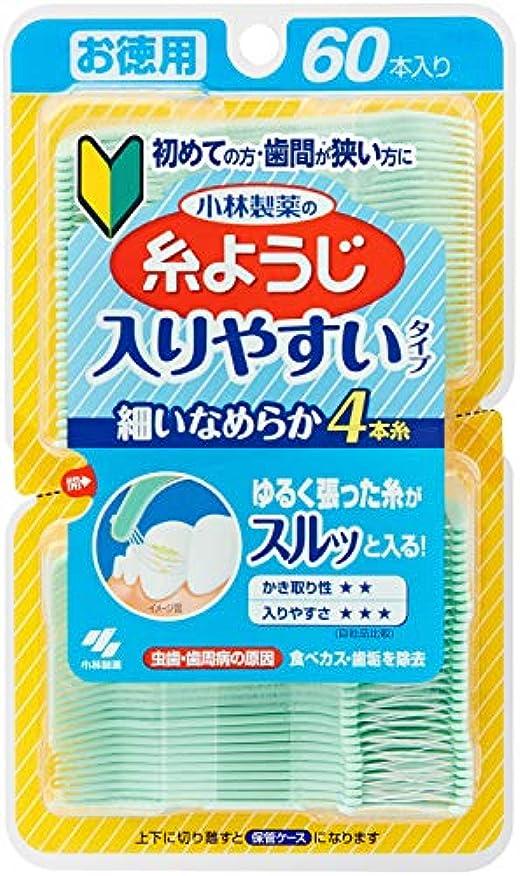 ビーズ飼いならす敏感な小林製薬の糸ようじ 入りやすいタイプ お徳用 60本入