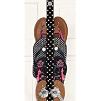 Flip Flop and Sandal Hanger By Boottique - Black and White Polka Dot