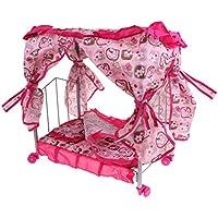 Baosity ドールベビーベッド 新生児おもちゃ 赤ちゃん人形用家具 お世話パーツ