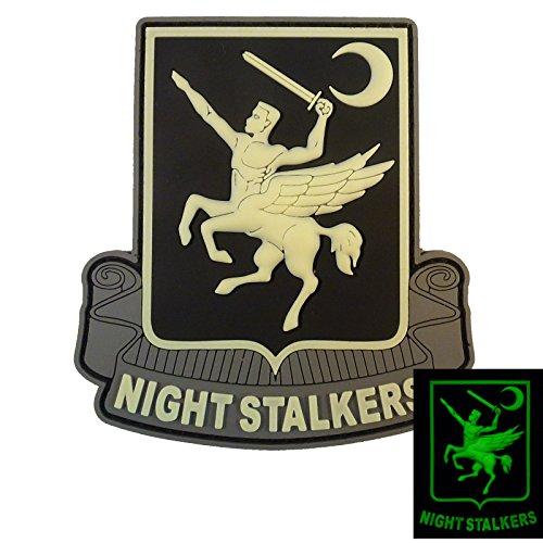 夜の暗闇で光る 160th SOAR Night Stalkers Airborne Regiment Operation Red Wings PVC ラバー 3D ベルクロ面ファスナー