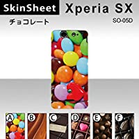 Xperia SX SO-05D 専用 スキンシート 裏面 【 E_アソート02 柄】